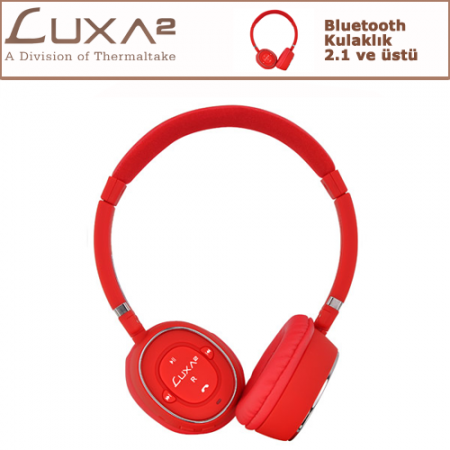 LUXA2 Bluetooth Kulaklık - Kırmızı