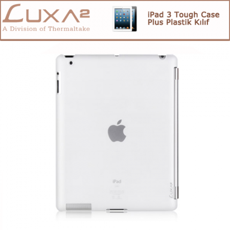 LUXA2 iPad 3 Tough Case Plus Plastik Kılıf - Beyaz