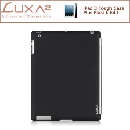 LUXA2 iPad 3 Tough Case Plus Plastik Kılıf - Siyah
