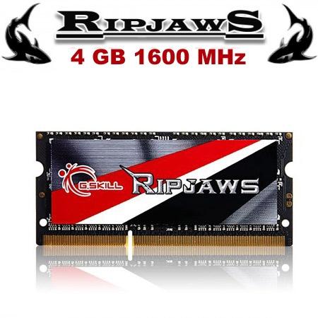 GSKILL Ripjaws DDR3L-1600Mhz 1.35V Low Voltaj CL9 4GB SO-DIMM (9-9-9-28)