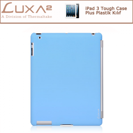 LUXA2 iPad 3 Tough Case Plus Plastik Kılıf - Mavi