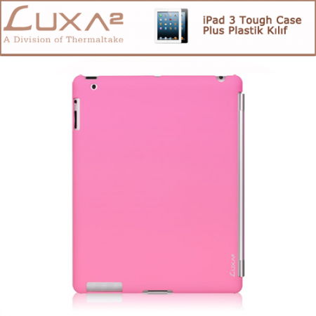 LUXA2 iPad 3 Tough Case Plus Plastik Kılıf - Pembe