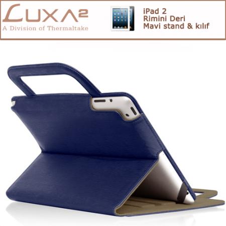 LUXA2 Rimini iPad 2/3 Deri Kılıf/Stand - Mavi