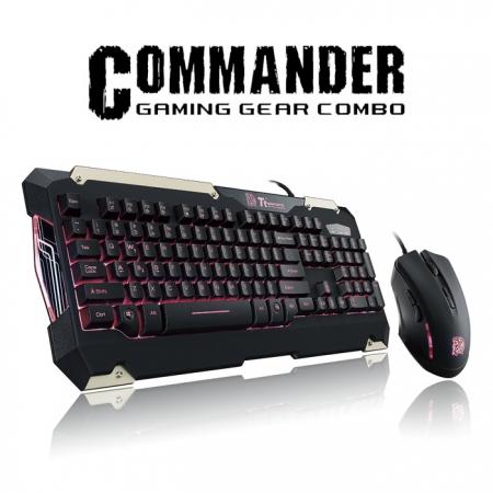 Thermaltake Tt eSPORTS Commander Combo Kavye ve Mouse (Kırmızı)