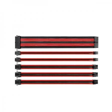Thermaltake TtMod Kırmızı/Siyah Power Supply Sleeved Kablo Seti (16 AWG)
