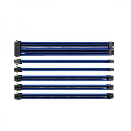 Thermaltake TtMod Mavi/Siyah Power Supply Sleeved Kablo Seti (16 AWG)
