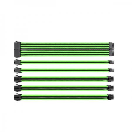 Thermaltake TtMod Yeşil/Siyah Power Supply Sleeved Kablo Seti (16 AWG