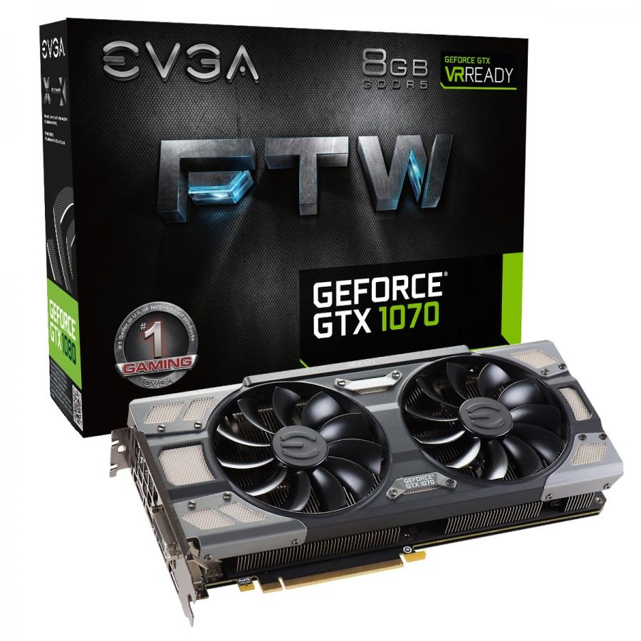 EVGA GTX 1070 FTW 8GB GDDR5 256bit  RGB Color LED  ACX 3.0+ Nvidia Ekran Kartı