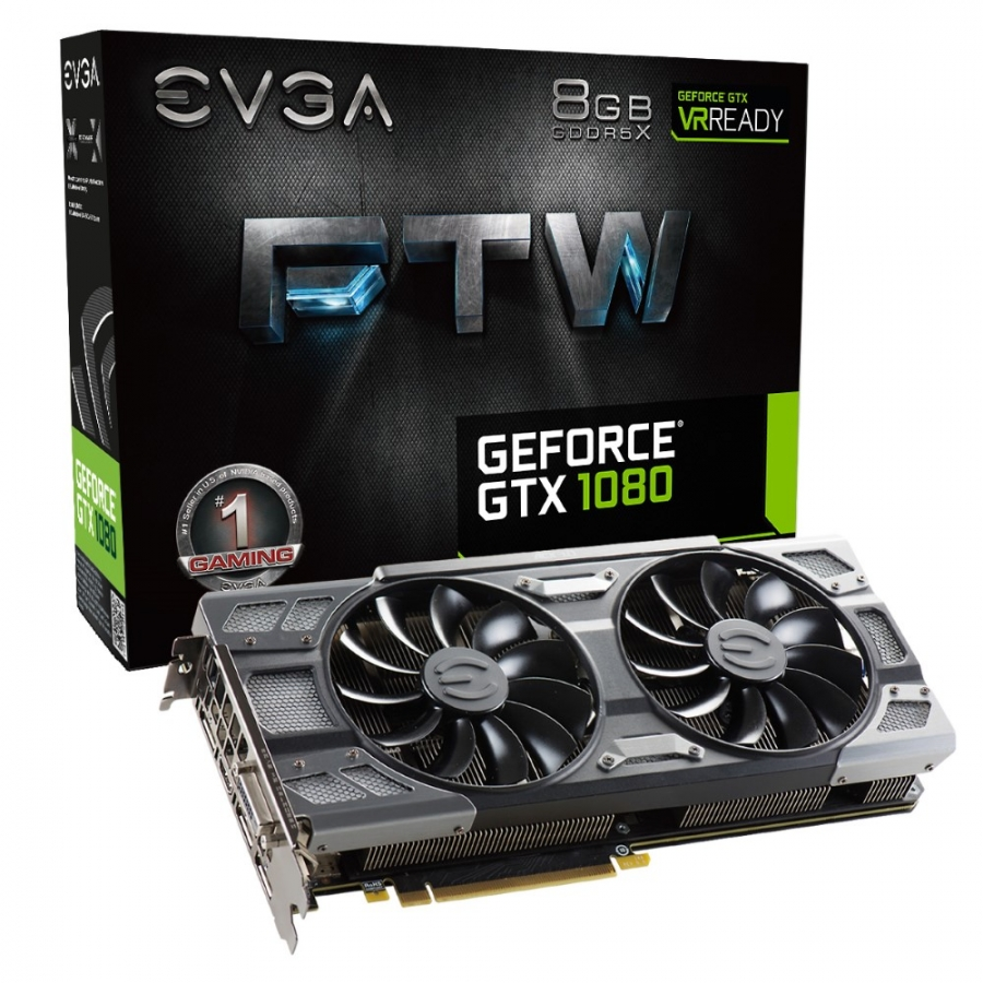 EVGA GTX 1080 8GB GDDR5X 256bit FTW RGB Color LED ACX 3.0+ Nvidia Ekran Kartı