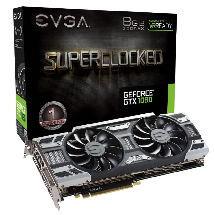 EVGA GTX 1080 8GB GDDR5X 256bit SuperClocked  ACX 3.0+ Nvidia Ekran Kartı